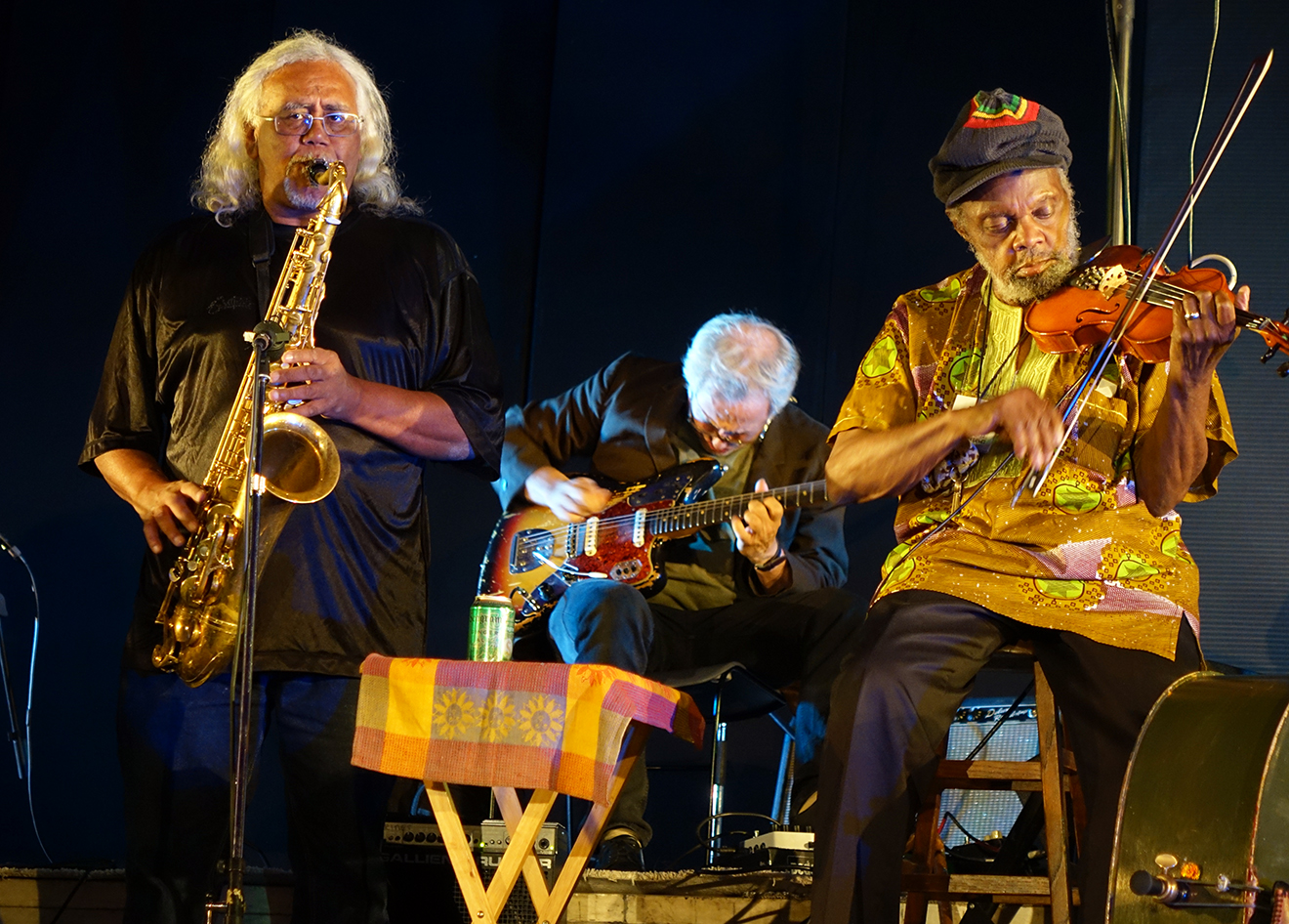 Mixashawn (Lee Rozie), Marc Ribot, & Henry Grimes at Vision Festival 21