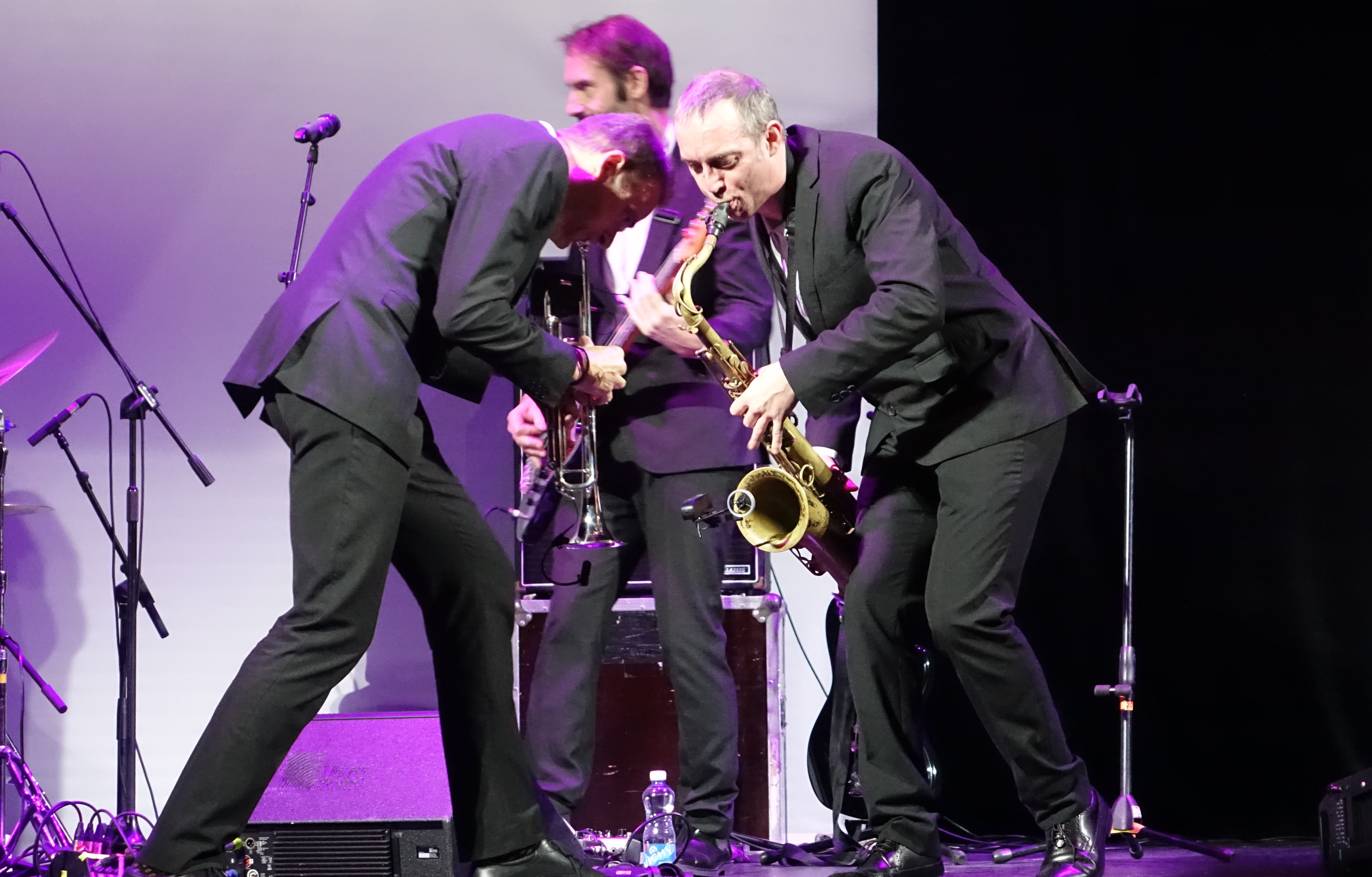 Pete Judge, Jim Barr and Jake McMurchie at the Vilnius Mama Jazz Festival in November 2017