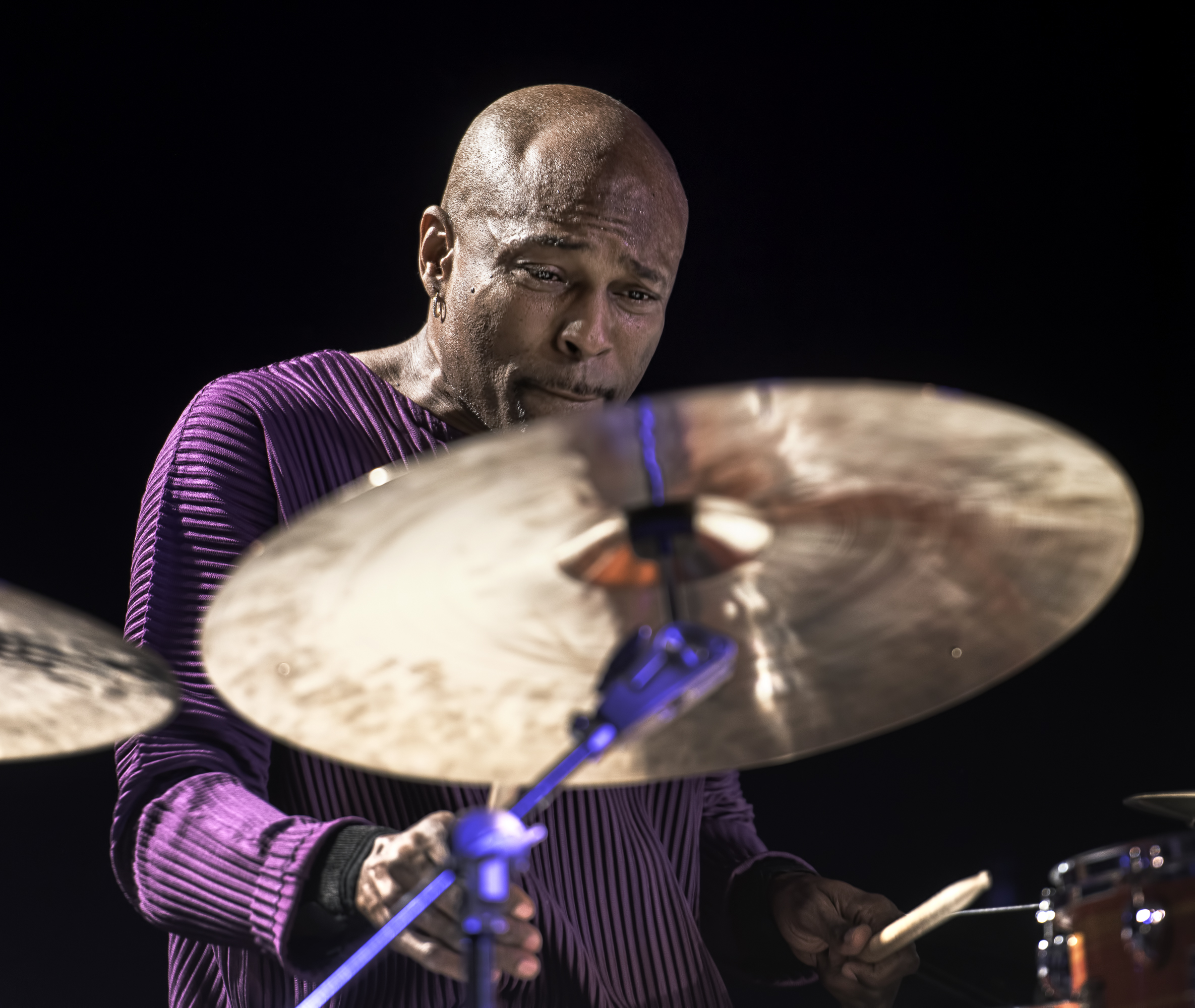 Rudy Royston with the Tia Fuller Quintet at the Monterey Jazz Festival