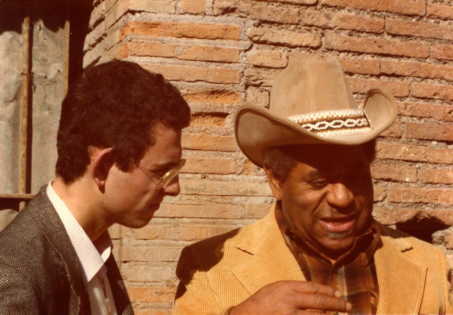Francesco Crosara with Dizzy Gillespie, Rome Coliseum 1980