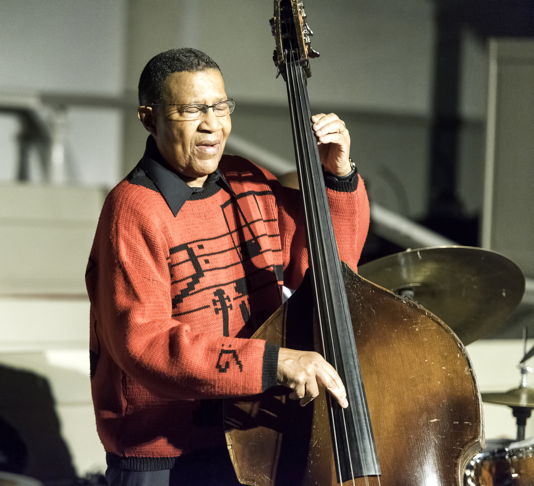 Bob Cranshaw at the Jazz Legends for Disability Pride at the NYC Winter Jazzfest 2016