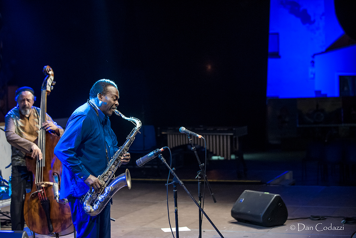 David Murray and Jaribu Shahid at Sant'Anna Arresi jazz Festival 2018
