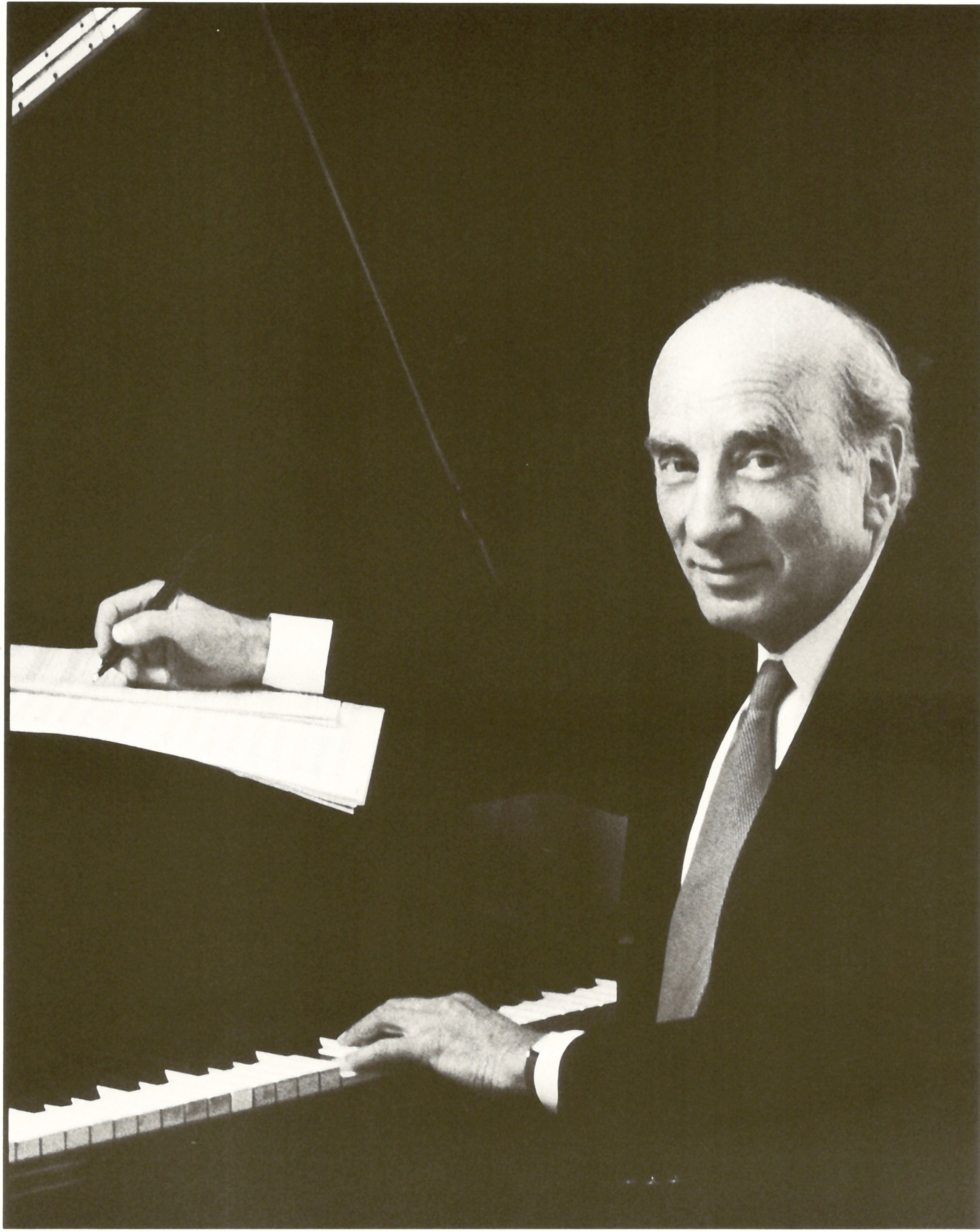 Dick Hyman composing at the piano