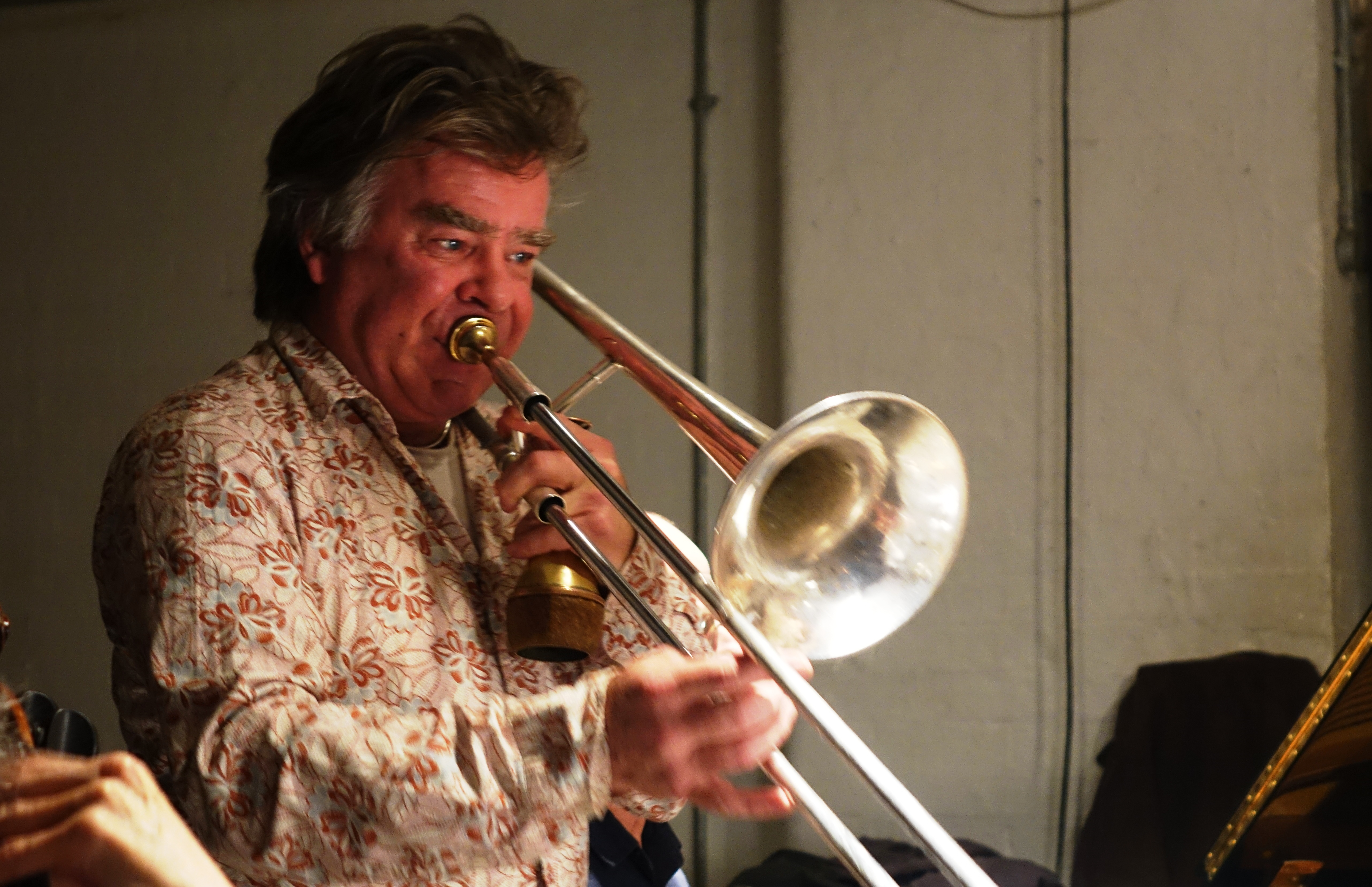 Wolter Wierbos at Cafe Oto, London in December 2018