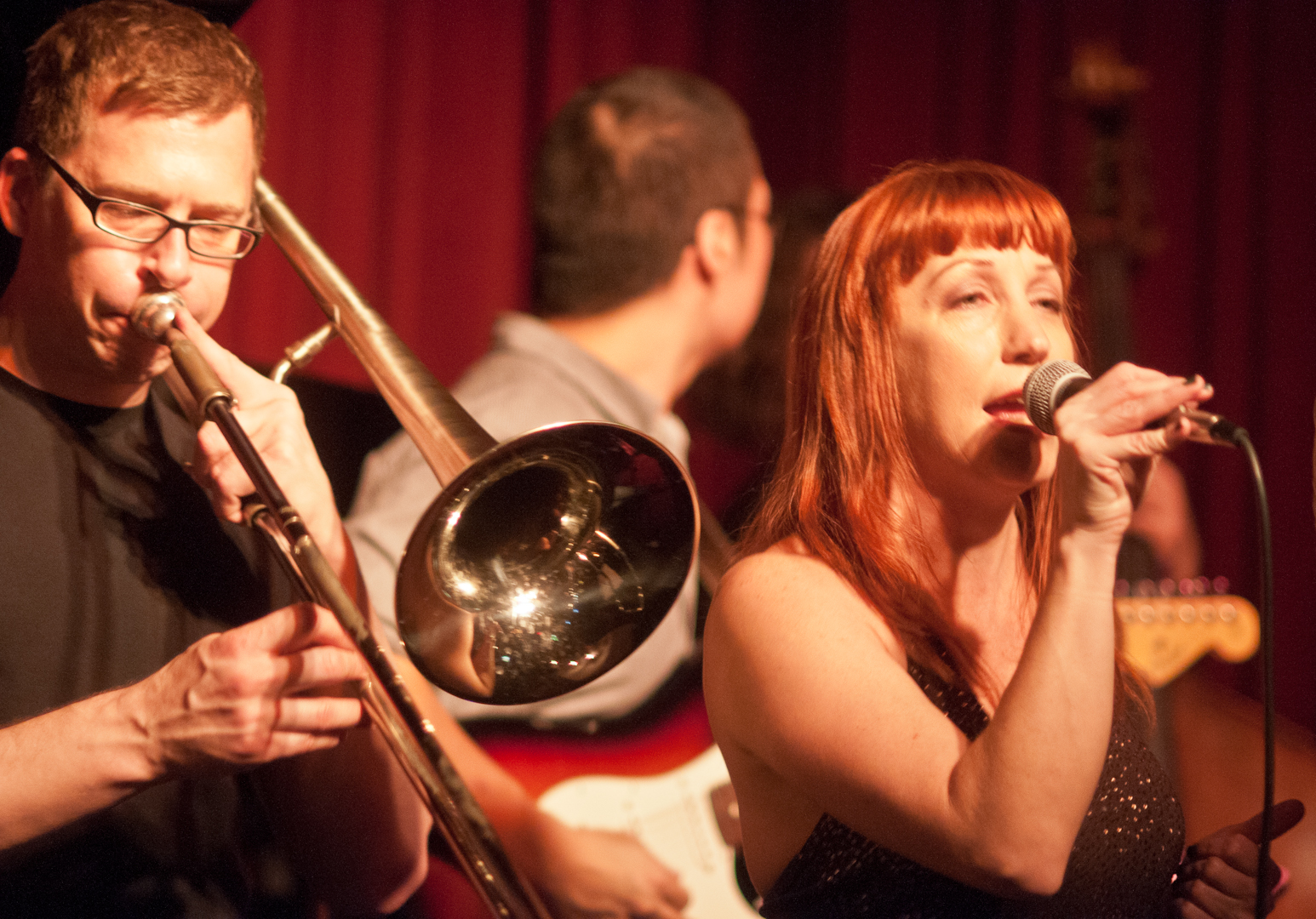 David Gibson and Victoria Cave with Nickle and Dime Ops at Smoke Jazz Club