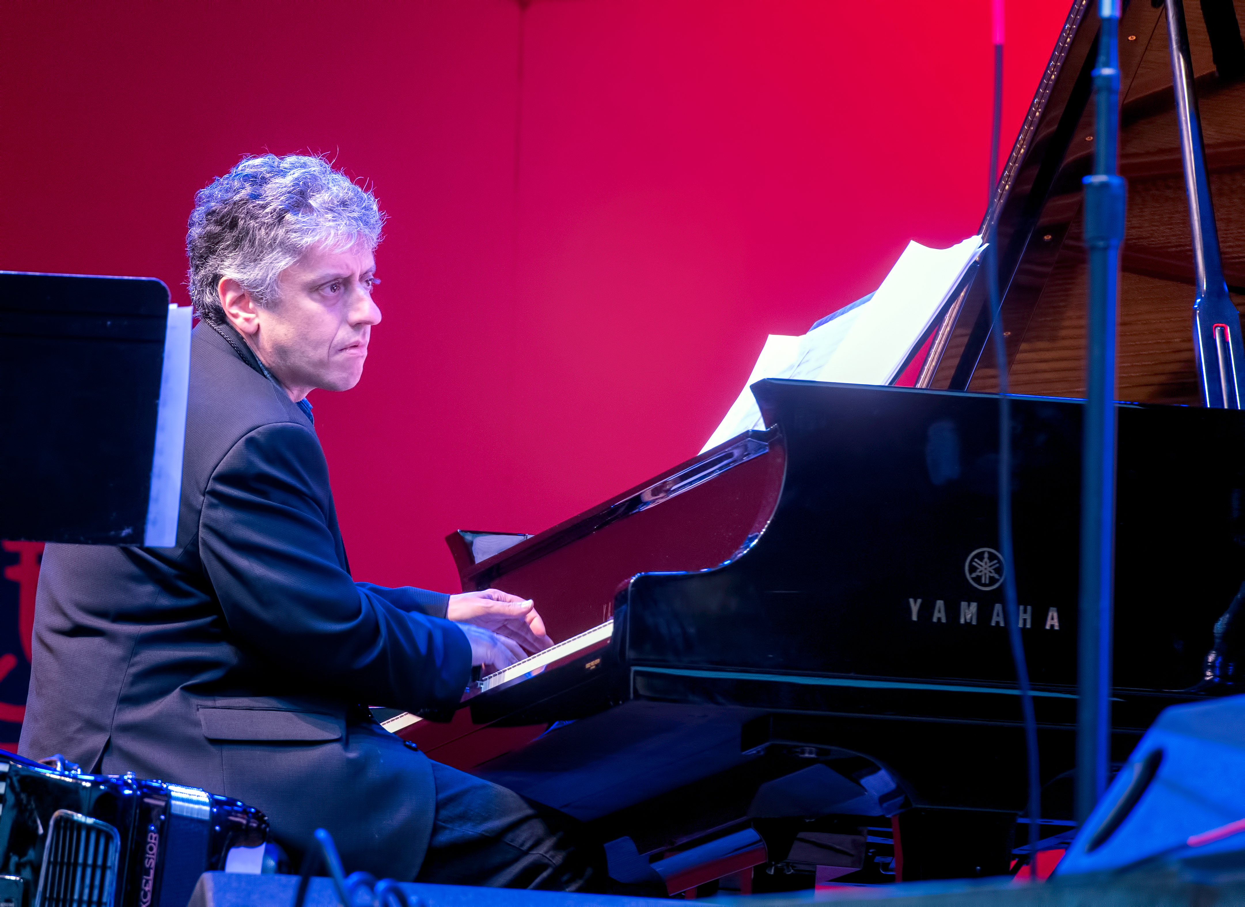 Gary Versace with the Anat Cohen Tentet at the Monterey Jazz Festival 2018