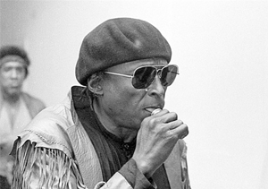 Miles Davis Sucking His Mouth Piece Some Seconds Before He Entered the Berlin Philaharmie, 1983.