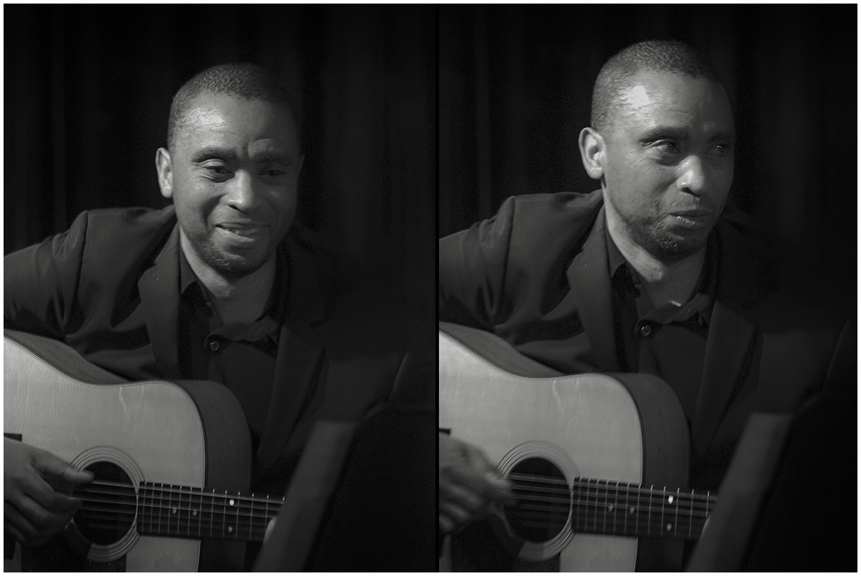 Marvin Sewell on guitar with Regina Carter at Scullers Jazz Club in Boston, Massachusets