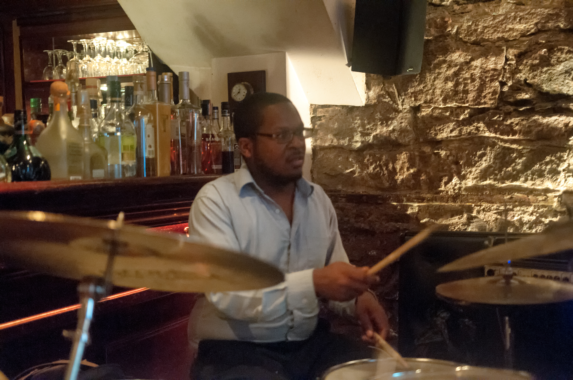 Russell Carter with the Rez Abbasi Trio at the Bar Next Door in New York City