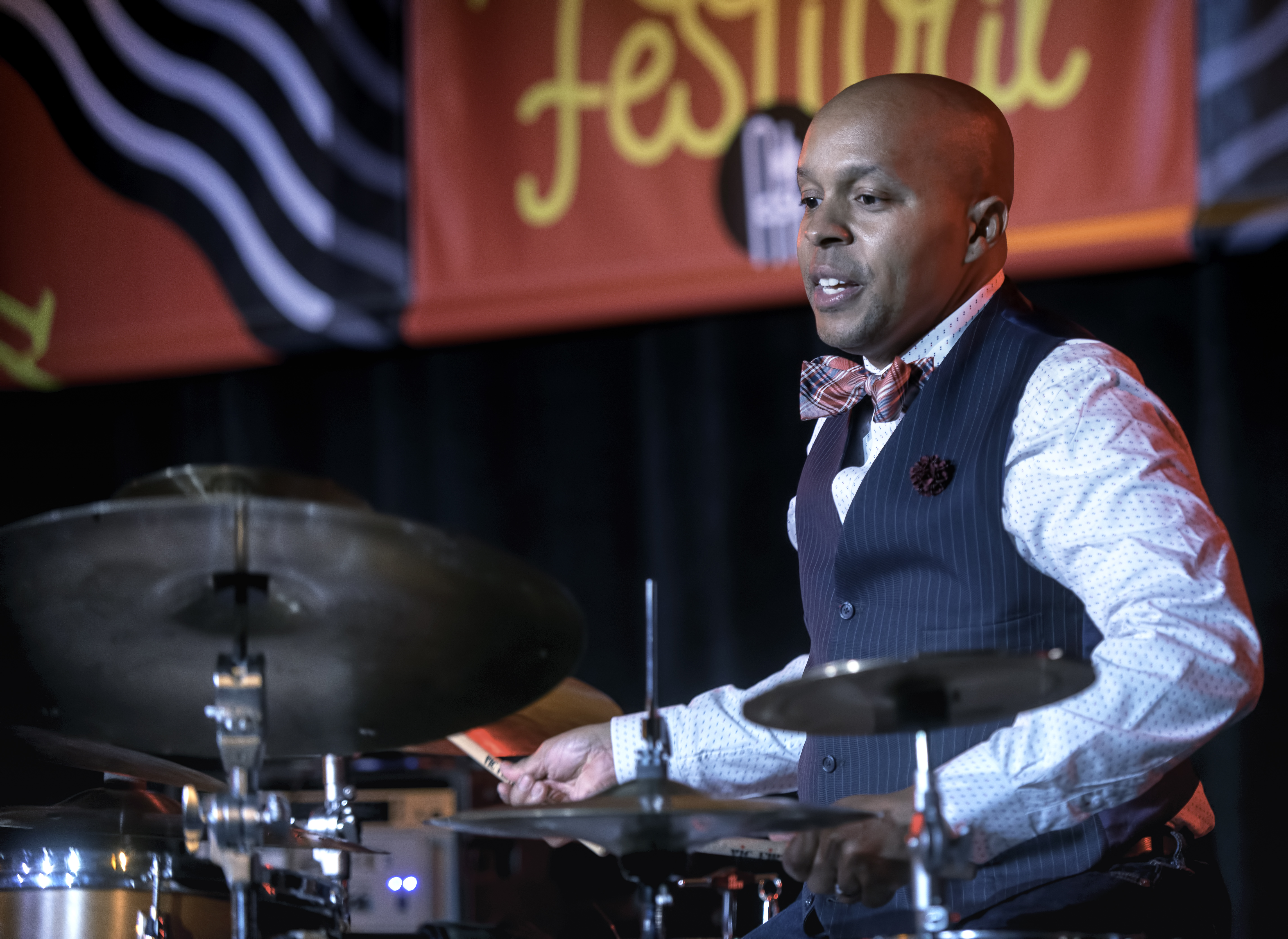 Marcus Baylor with the Baylor Project at the Monterey Jazz Festival 2018