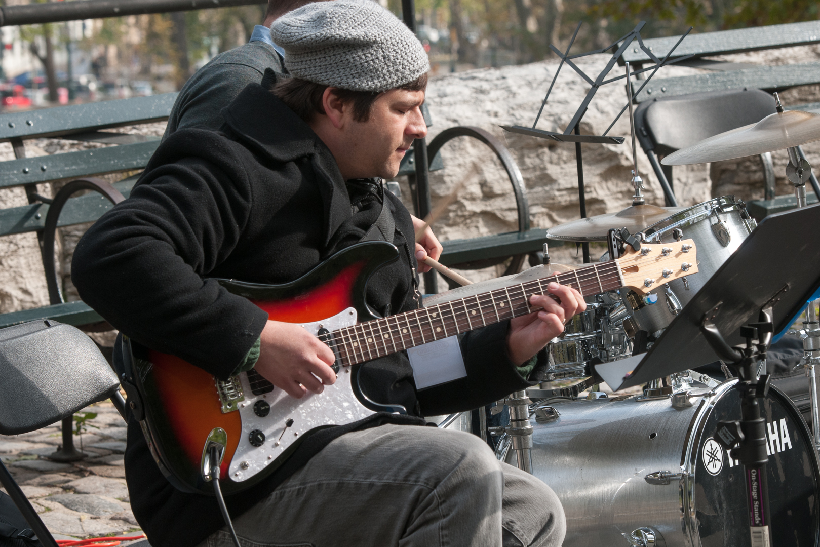 Jesse Lewis with the Chris Dingman Quartet at Jazz and Colors in Central Park