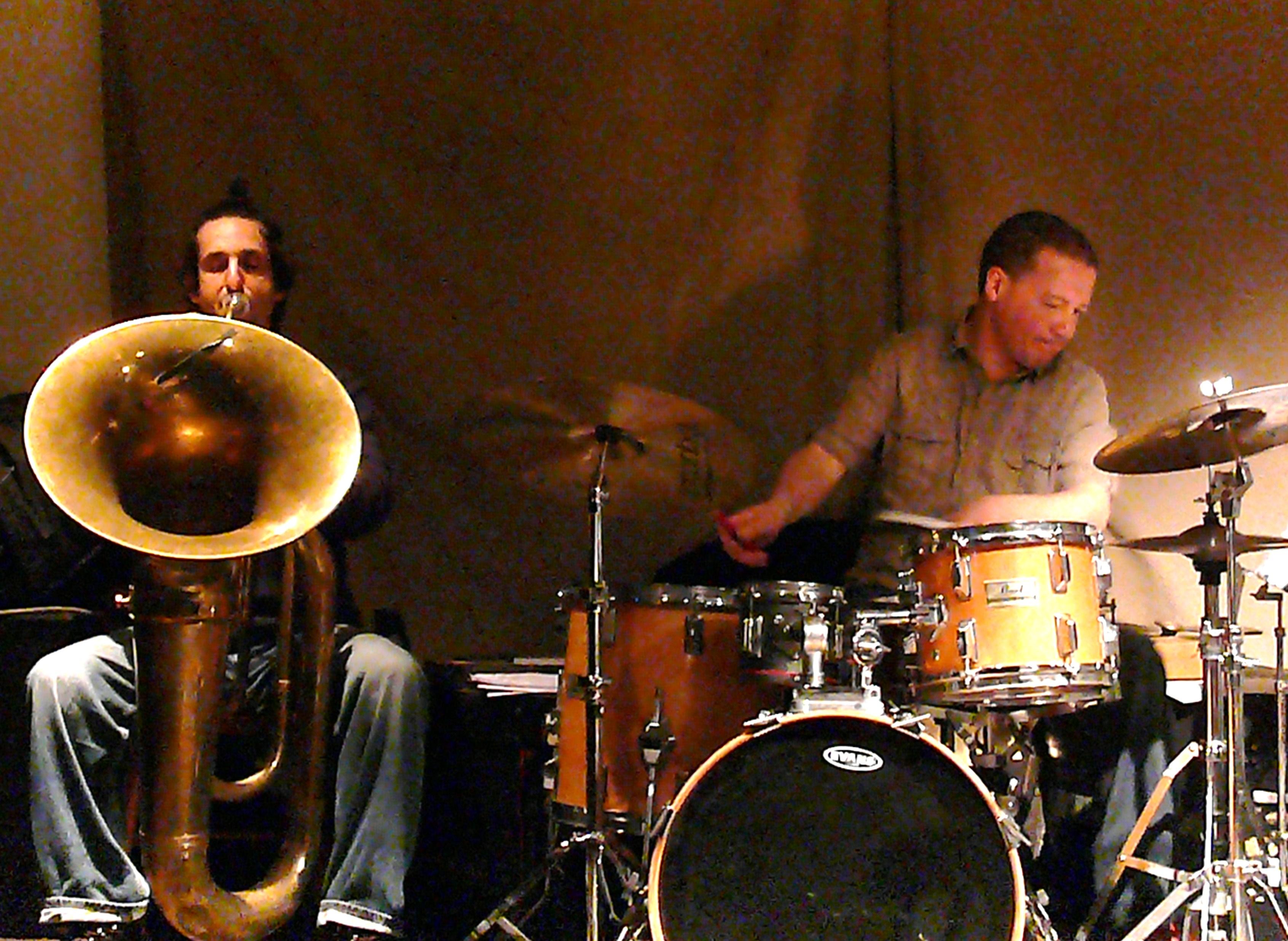 Oren Marshall and Mark Sanders at Cafe Oto, London