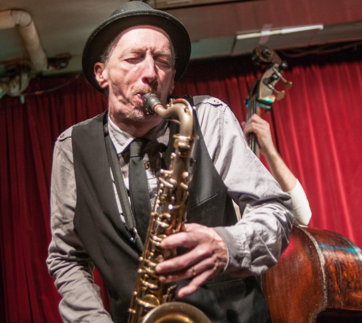 Ellery Eskelin with the David Liebman Quintet at the Cornelia Street Cafe