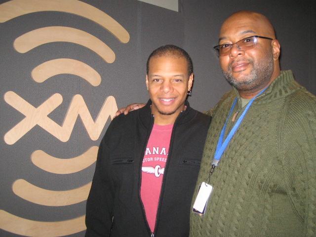 Mark Whitfield at XM Satellite Radio NYC