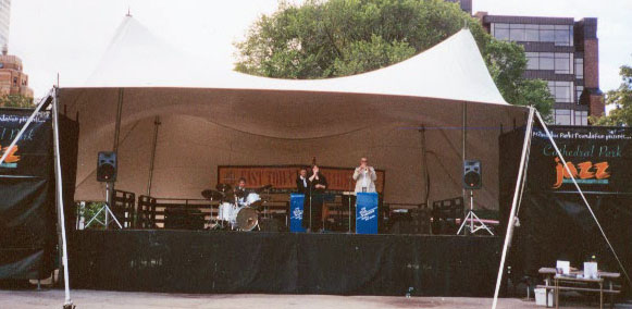 A Bill Sargent Quintet at Jazz in the Park at Cathedral Square - Bill Sargent, Harold Miller, Ellen Winters, Kaye Berigan Pictur