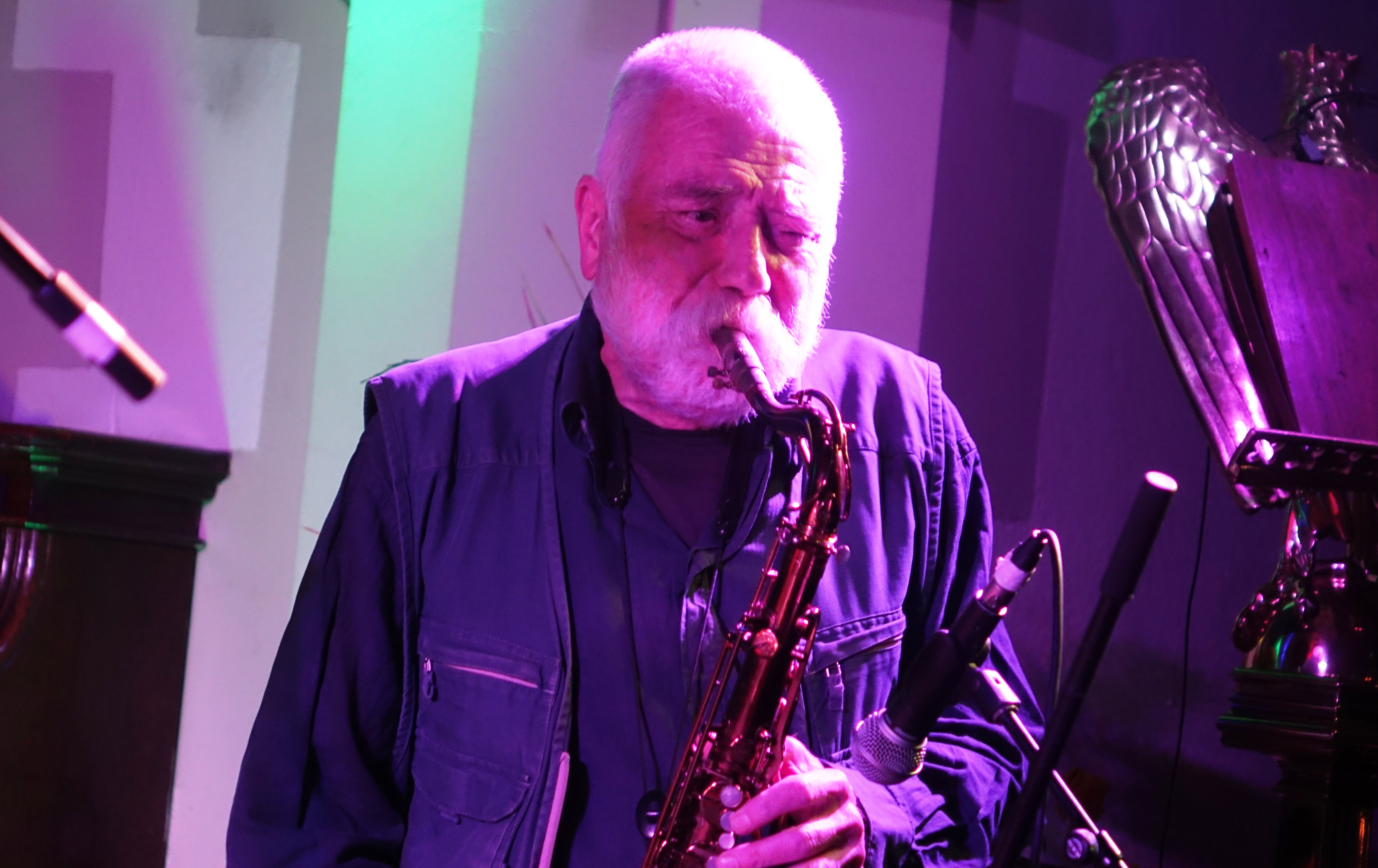 Peter Brötzmann at Brighton Alternative Jazz Festival in October 2018