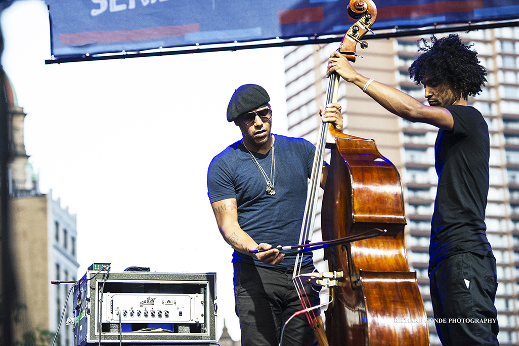 Miles Mosley at the 2017 Detroit Jazz Festival