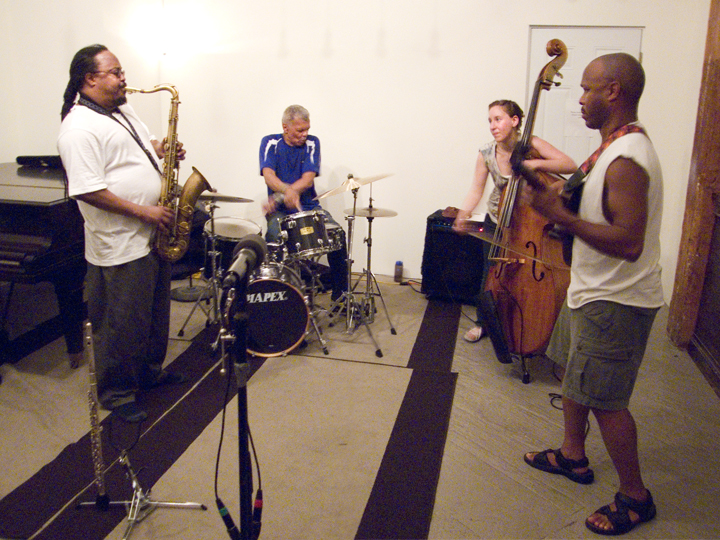 Transcendence (Ras Moshe, Dave Ross, Shayna Dulberger, and Charles Downs) - KMB Jazz Fest @ DSMC 2008