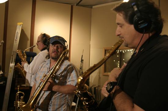 Doc Kupka,Mic Gillette,Tom Politzer(Top Horns)Tony Adamo Recording Session