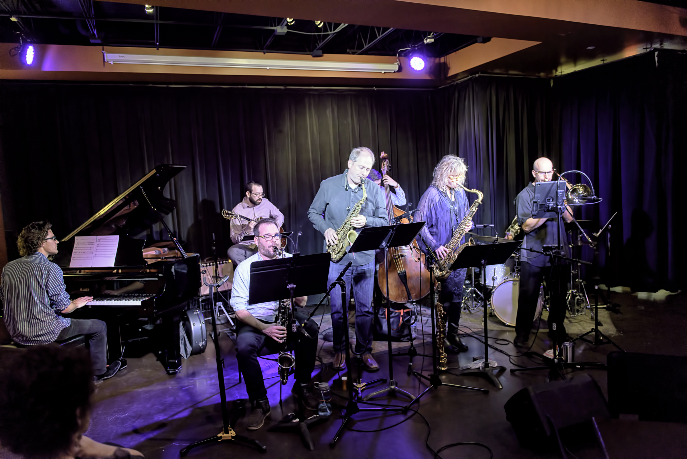 Matt Williams, Keith Kelly, Jeff Libman, Will Goble, Eric Rasmussen, Mary Petrich,  And Steve Mcallister With Will Goble's Audiodrama Octet At The Nash In Phoenix At The Nash.