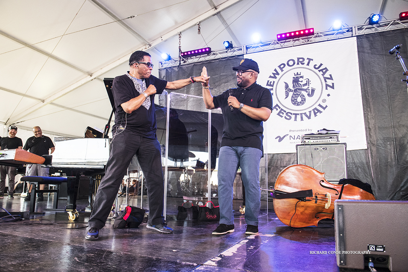 Herbie Hancock and Christian McBride at the 2019 Newport Jazz Festival