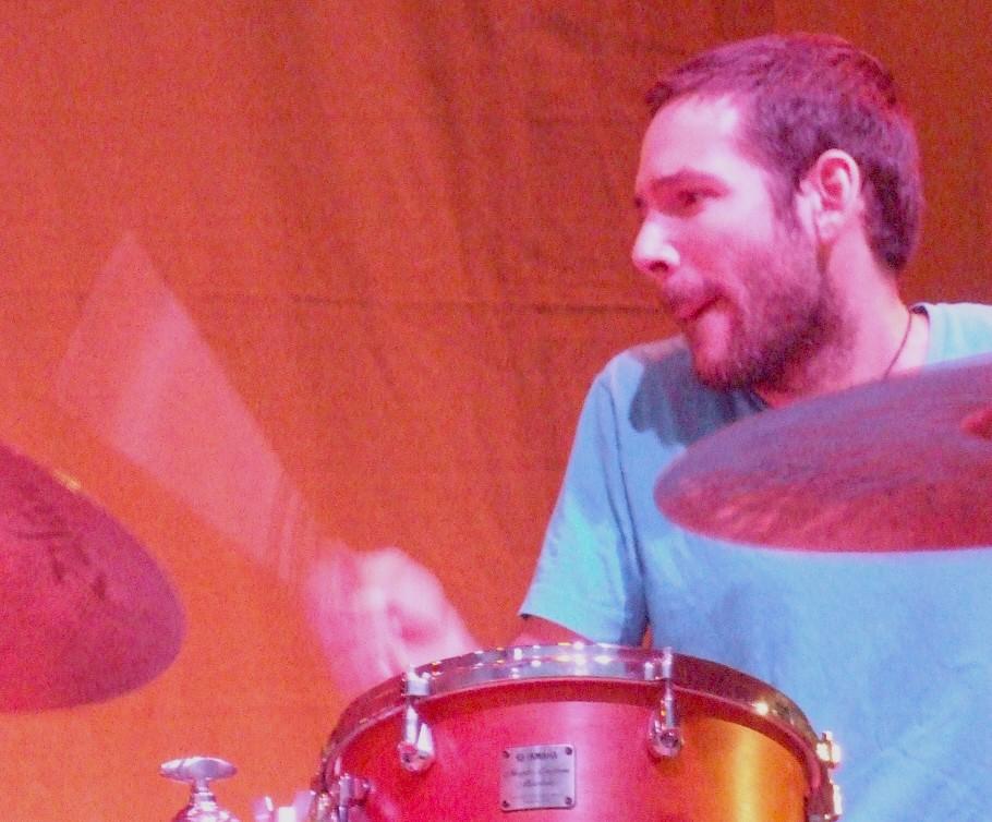 Henry Cole with David Sanchez Quartet at 2011 Chicago Jazz Festival