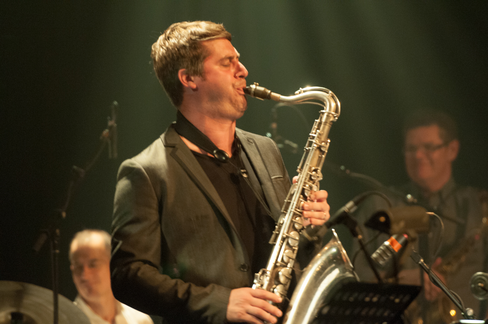 Chet Doxas with Remi Bolduc at the Montreal International Jazz Festival 2012