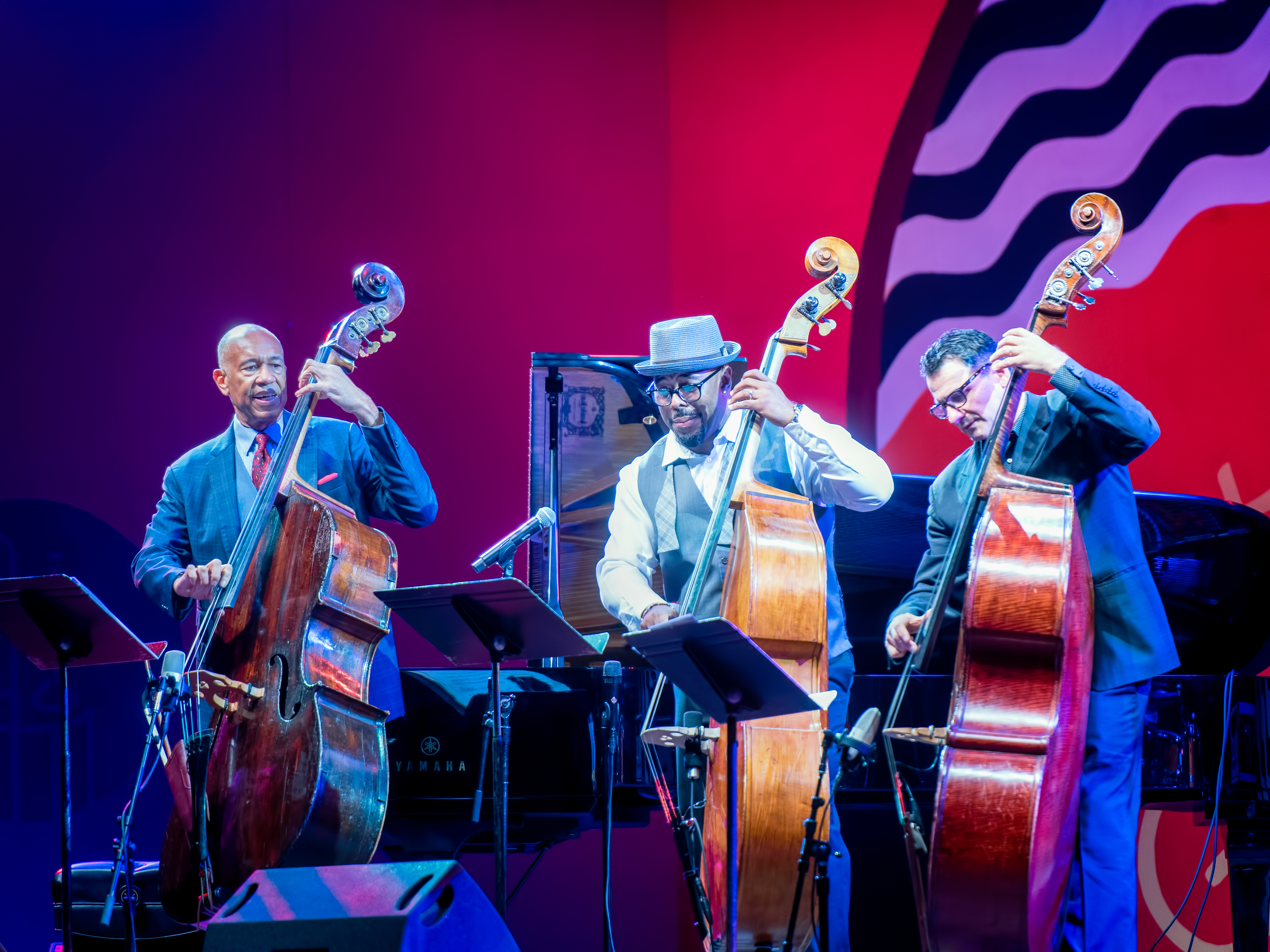 John Clayton, Christian McBride and John Patitucci with Remembering Ray Brown at the Monterey Jazz Festival 2018