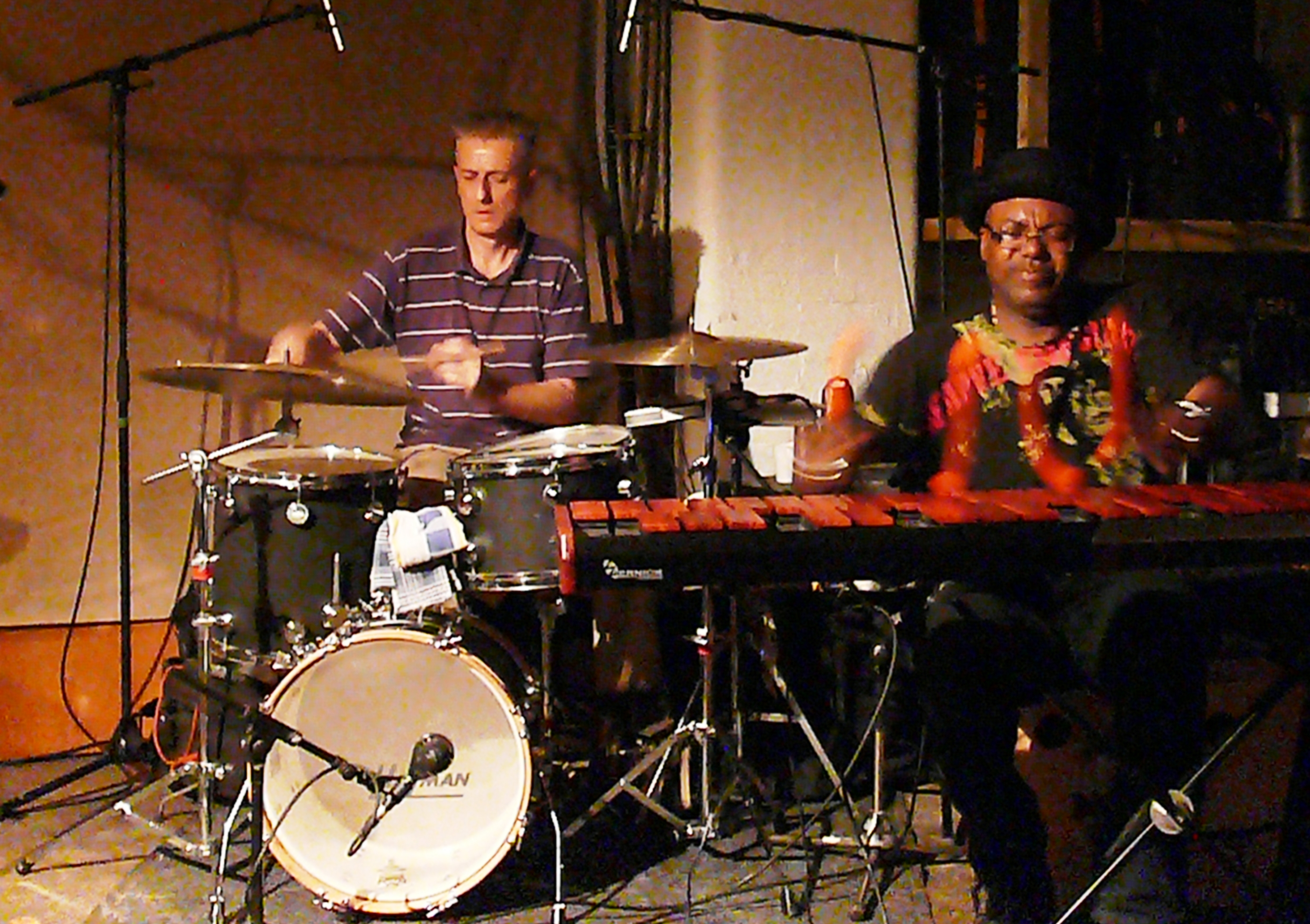 Steve Noble and Orphy Robinson at Cafe Oto, London in August 2012