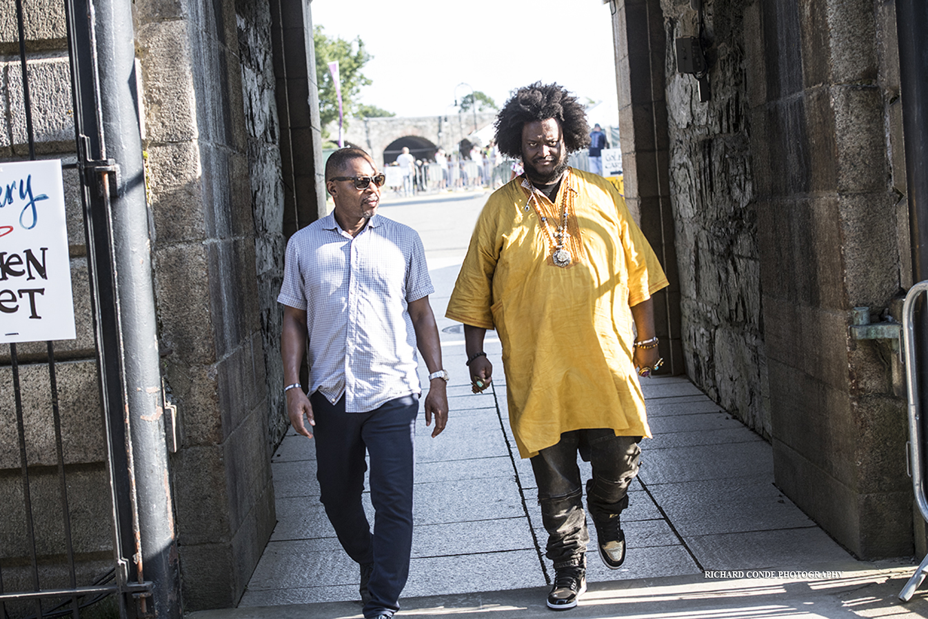 Ravi Coltrane and Kamasi Washington at the 2019 Newport Jazz Festival