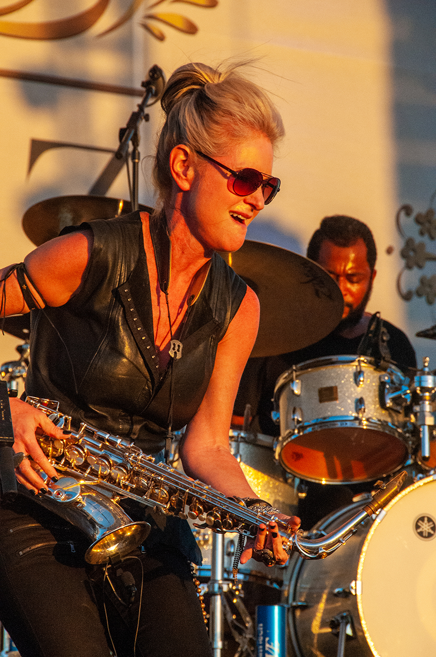 Saxophonist Mindi Abair And Her Band The Boneshakers At Life Luxe Jazz