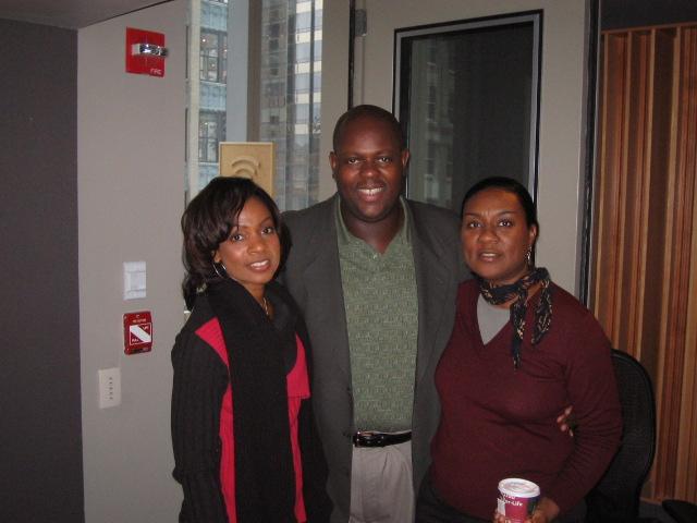 "Stephanie Jordan, Wes ""Warmdaddy"" Anderson and Rachael Jordan, XM Satellite Radio NYC"