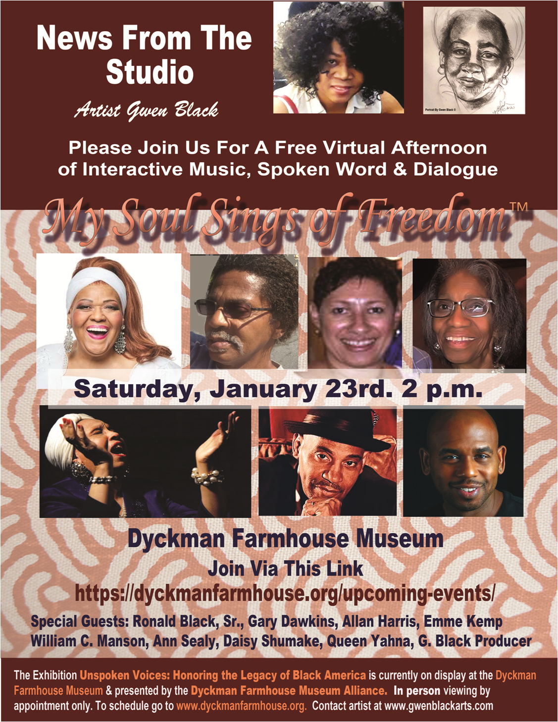 My Soul Sings Of Freedom: An Afternoon Of Music And Spoken Word