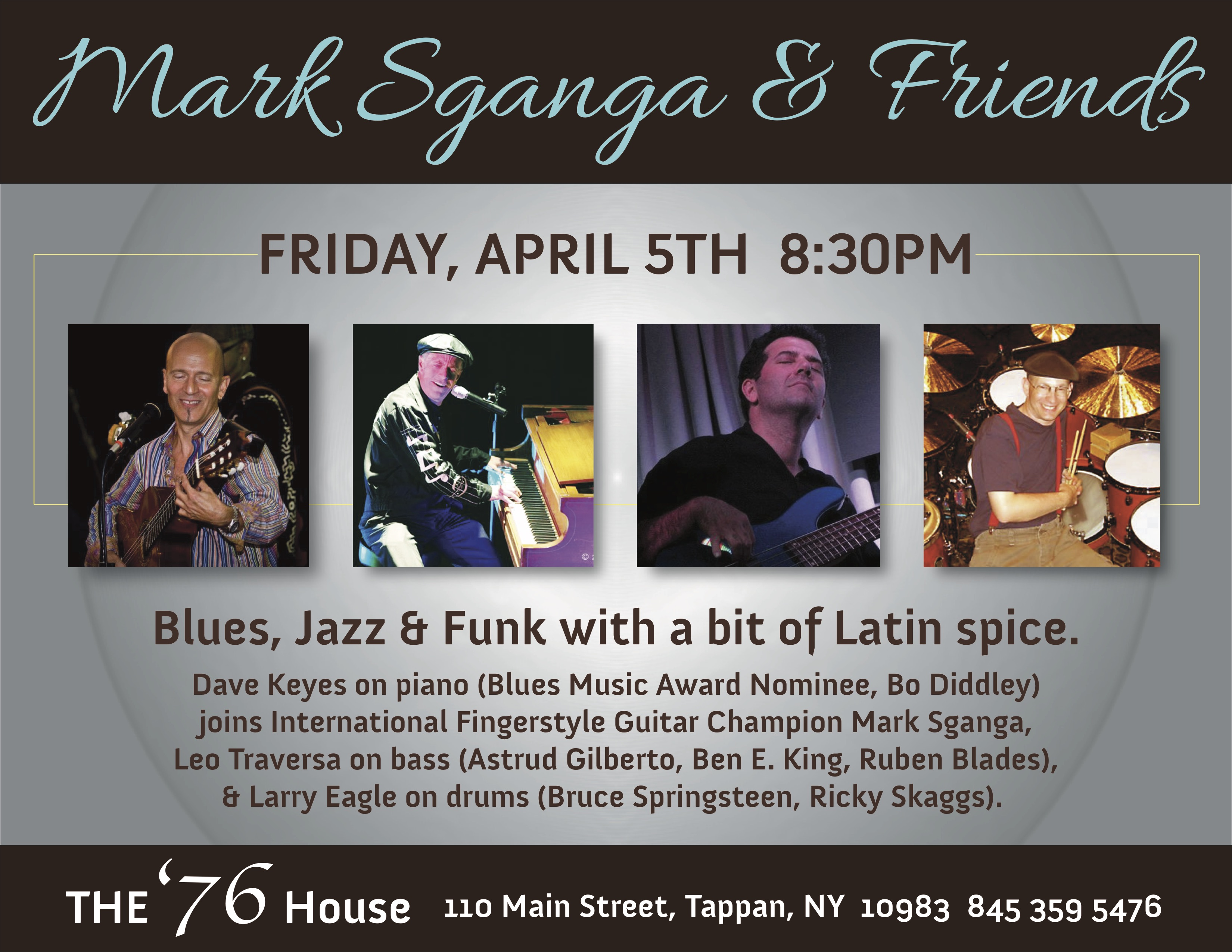 Mark Sganga's Blues, Jazz & Funk At The '76!