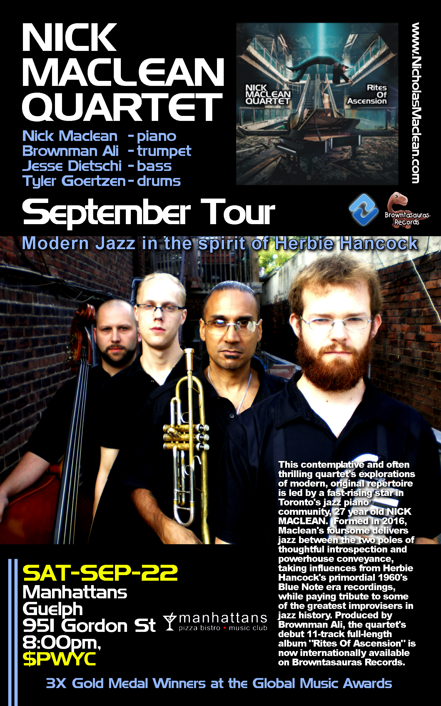 NICK MACLEAN QUARTET feat. BROWNMAN ALI (Guelph)