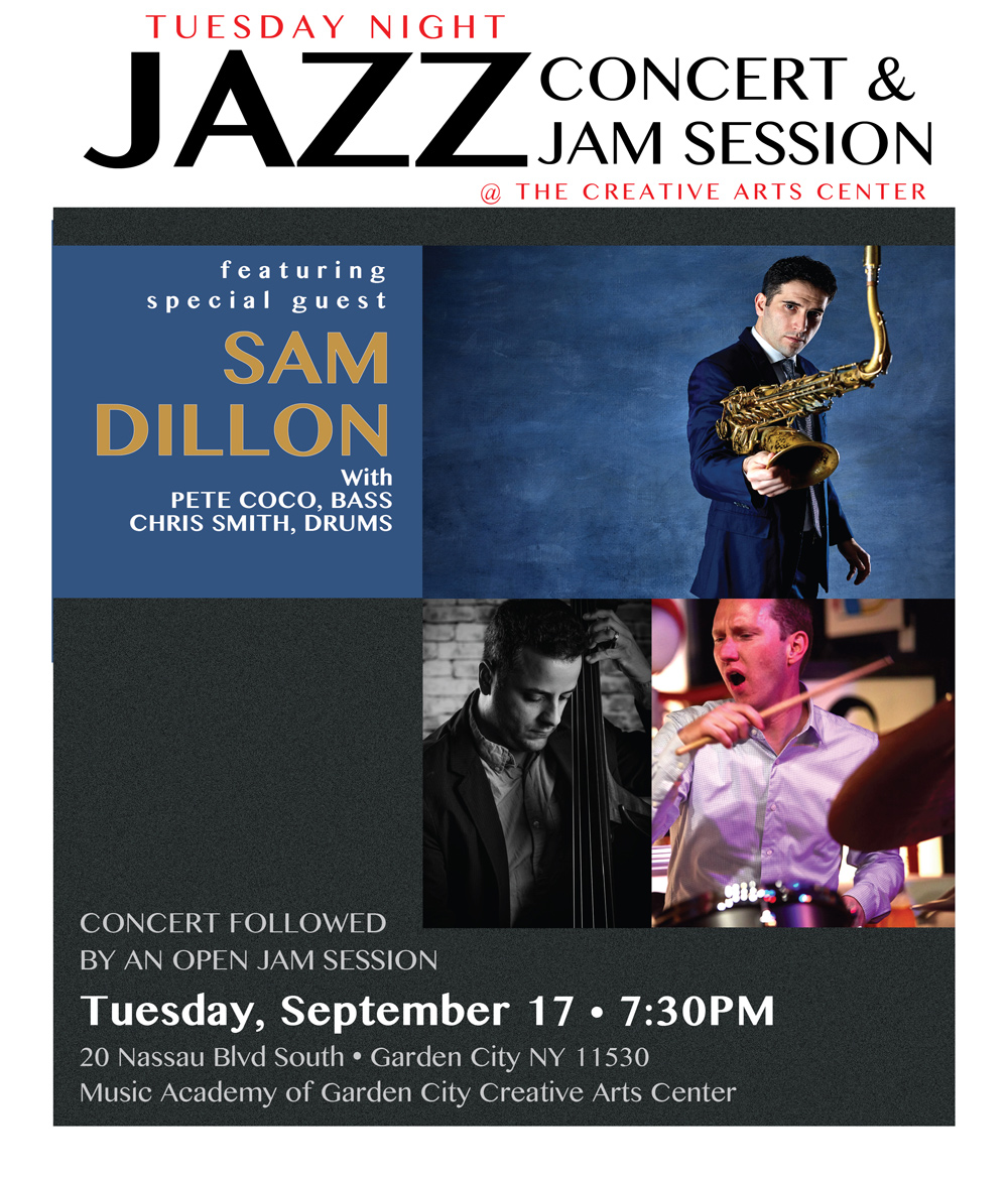 Concert & Jam Session Featuring Sam Dillon