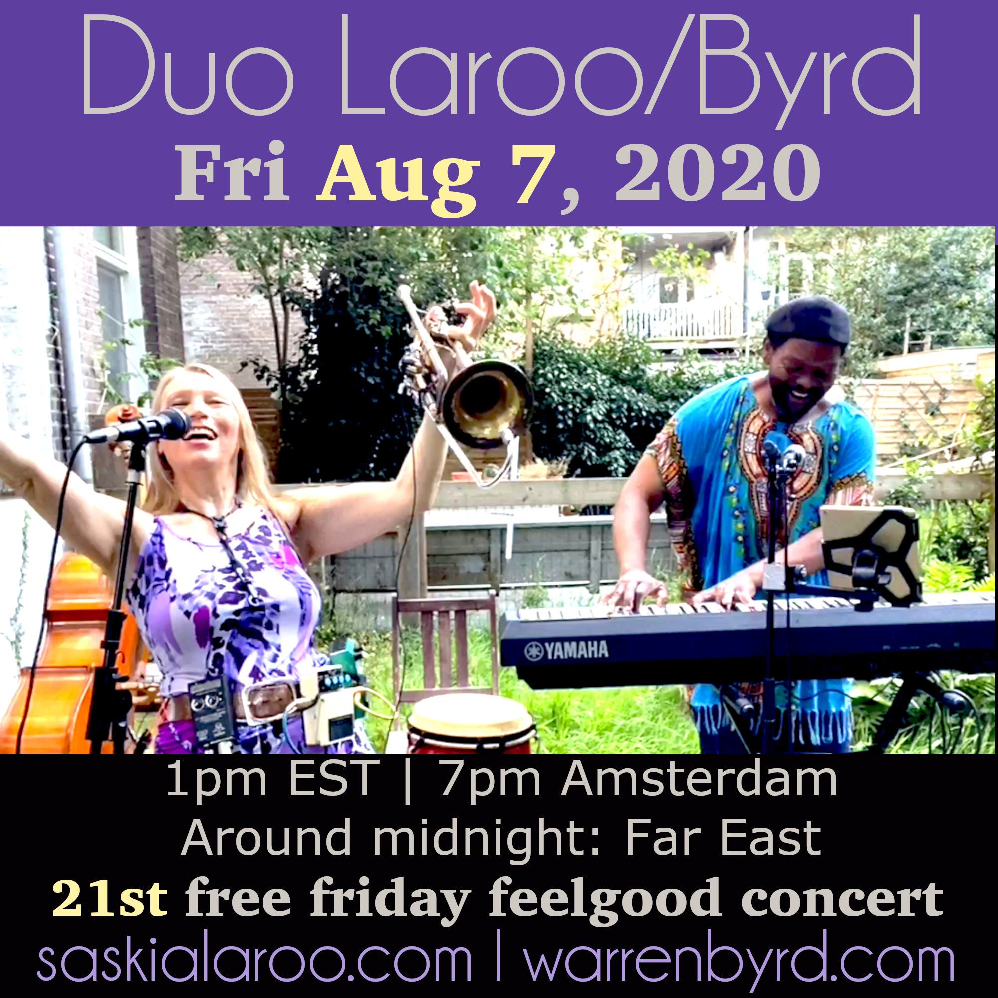Free 21st Duo Laroo/byrd Live & Streamed Friday Feelgood Concert