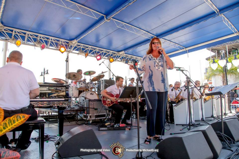 Lisa Kelly with the St. Johns River City Band