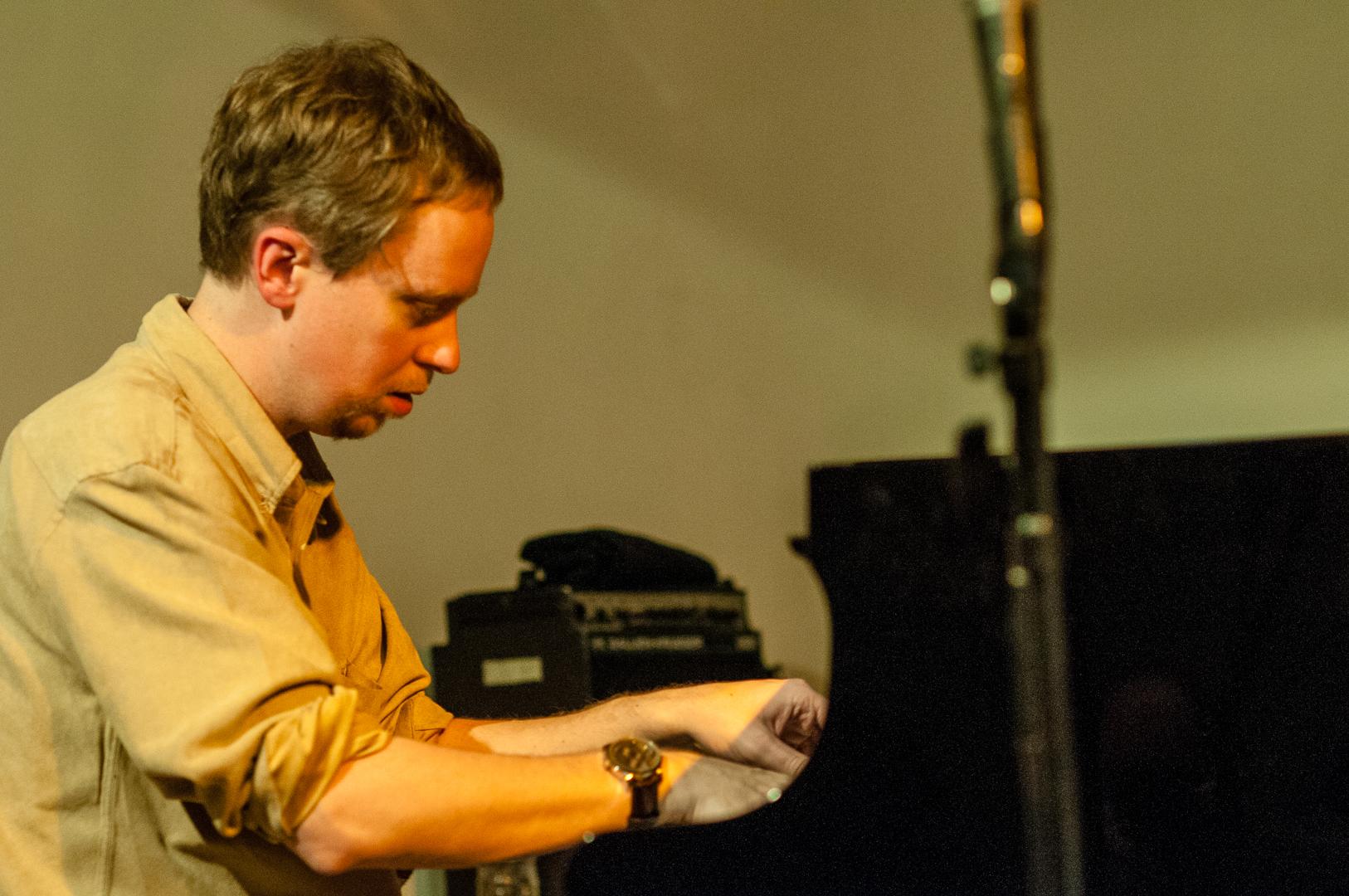 Matt mitchell with the darius jones quartet at the jazz gallery