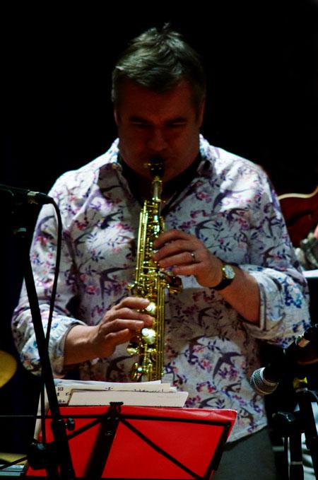 Mark lockheart, printmakers, watermill jazz club, dorking, surrey, uk