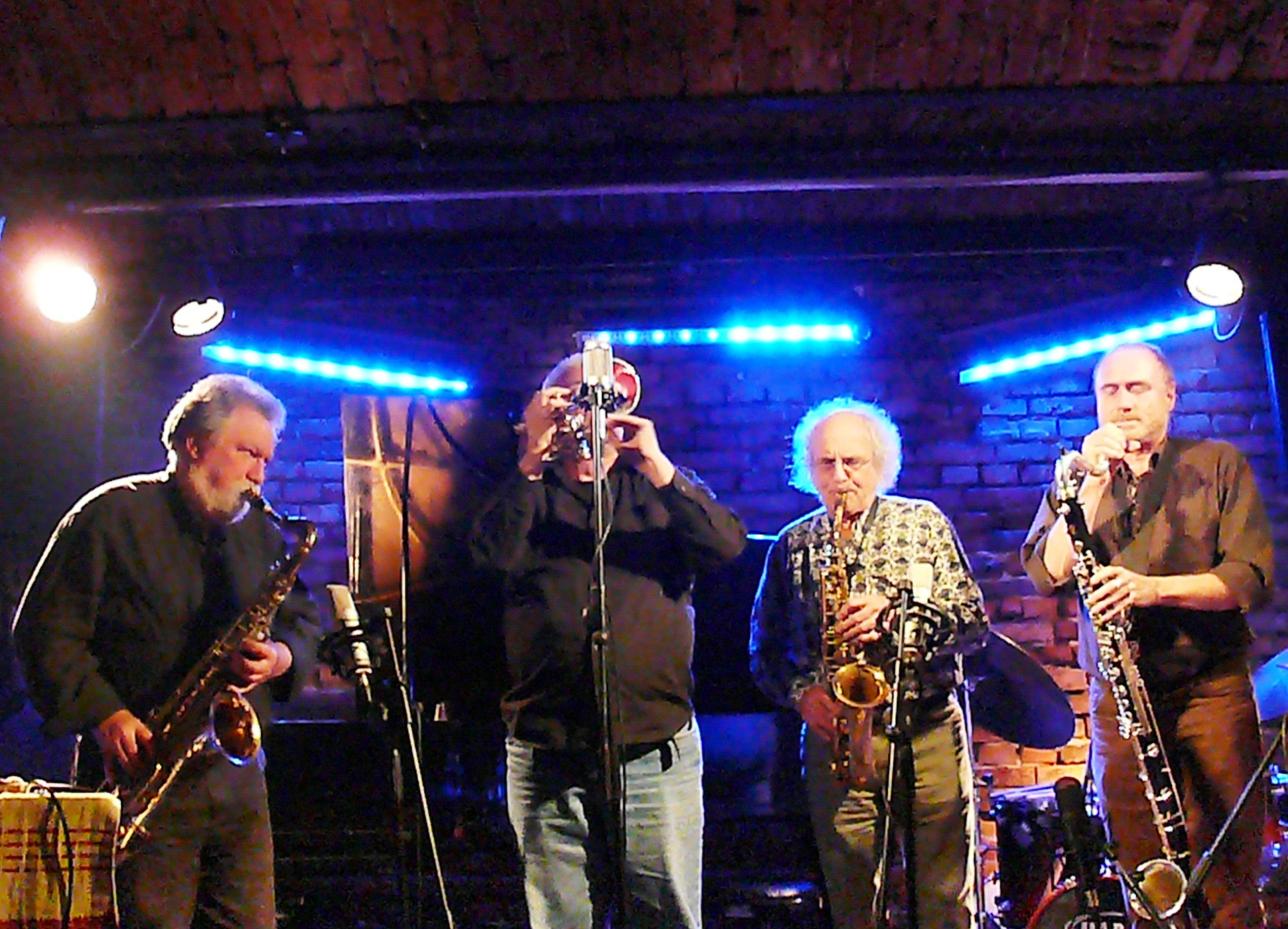 Evan Parker, Herb Robertson, Trevor Watts and Hans Koch at Alchemia, Krakow in November 2012