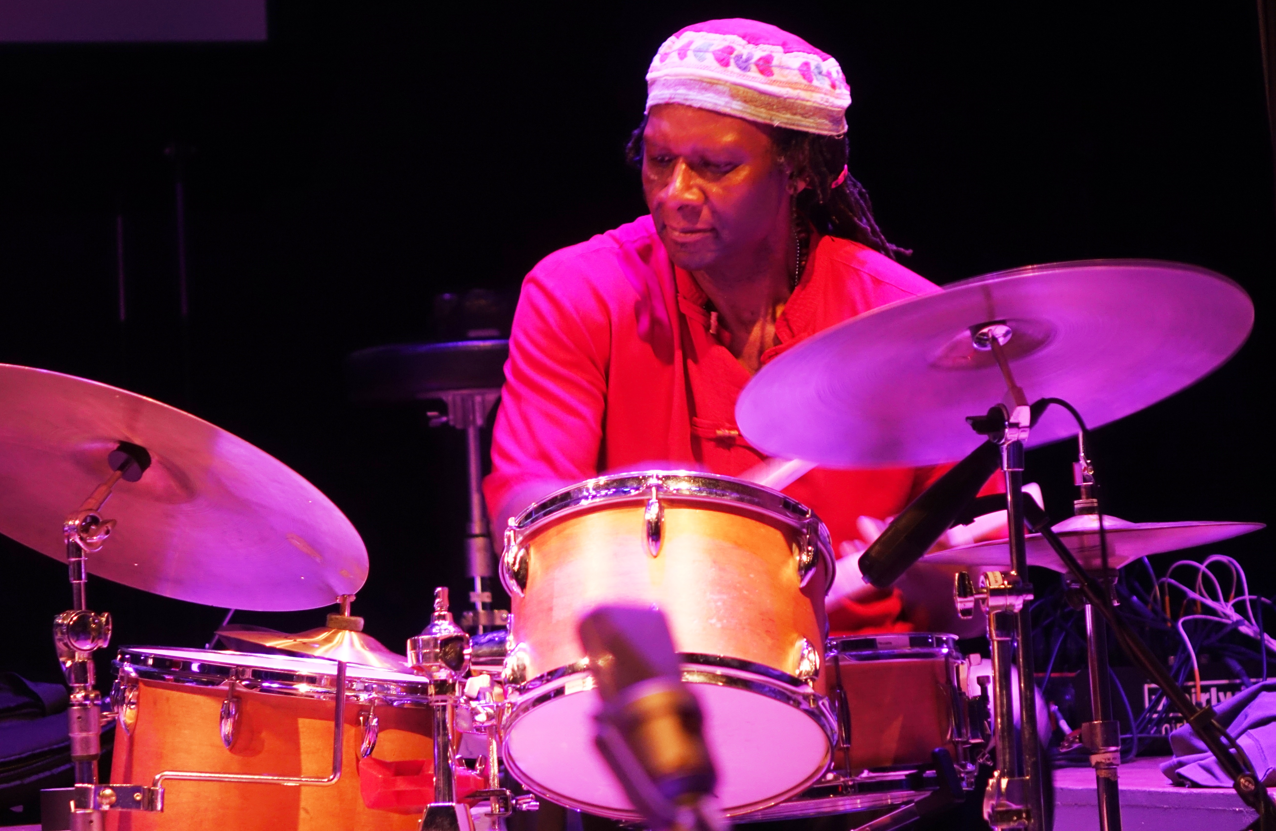 Hamid Drake at Roulette, Brooklyn in May 2018