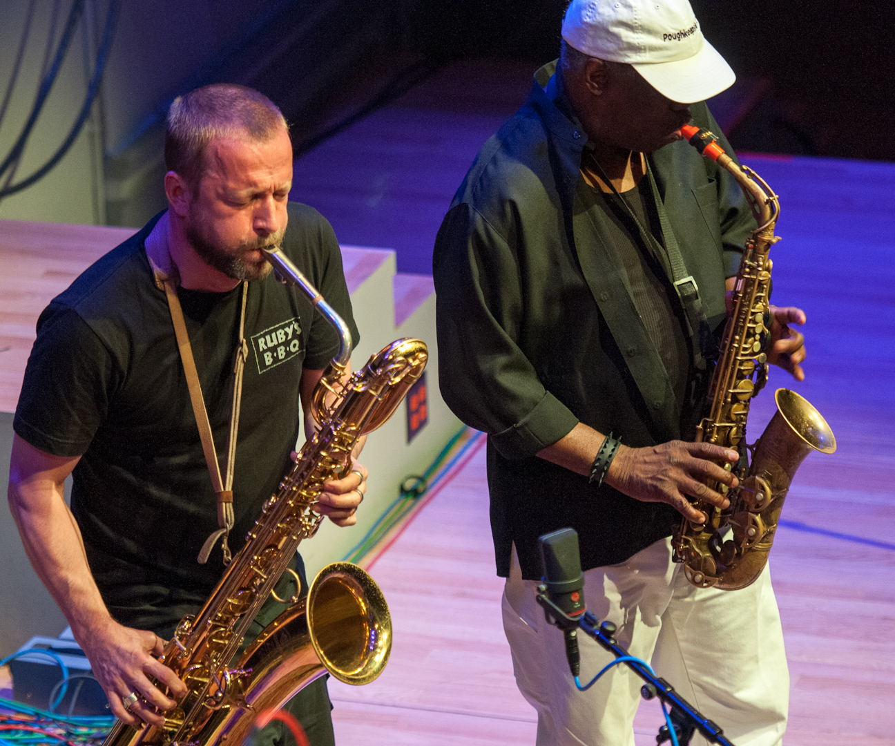 Mats Gustafsson And Joe Mcphee With The Thing At The Vision Festival 2012