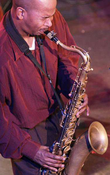 """Greg Tardy with the """"Andrew Hill Quintet"""" at the Amr Jazz Festival, Alhambra, Geneva, Switzerland, April 2006"""