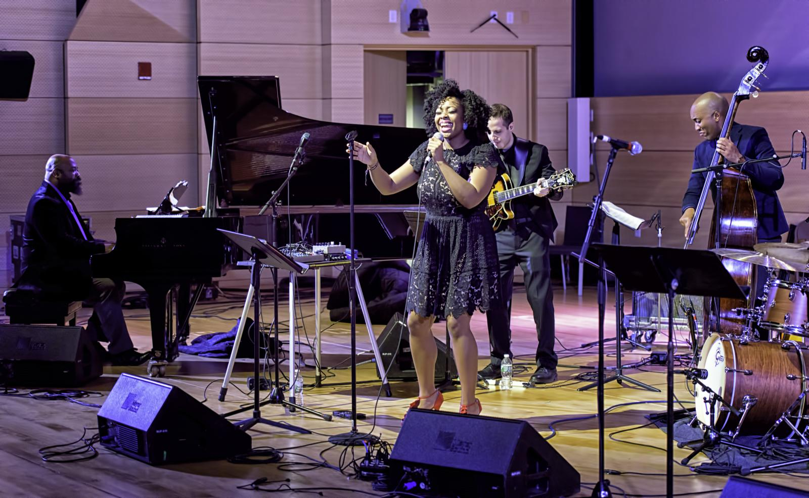 Allyn Johnson, Alicia Olatuja, David Rosenthal and Reuben Rogers with Songs of Freedom  at the NYC Winter Jazzfest 2017