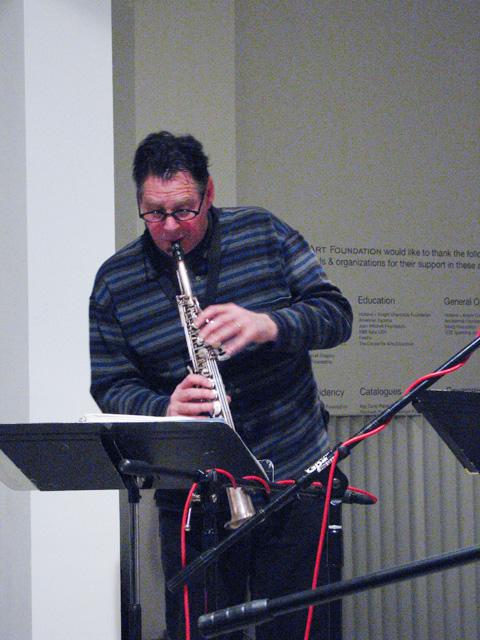 Bruce Ackley from Rova Saxophone Quartet - Cue Art Foundation 2007