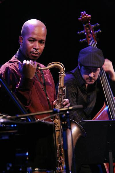 """Greg Tardy and John Hebert with the """"Andrew Hill Quintet"""" at the Amr Jazz Festival, Alhambra, Geneva, Switzerland, April 2006"""