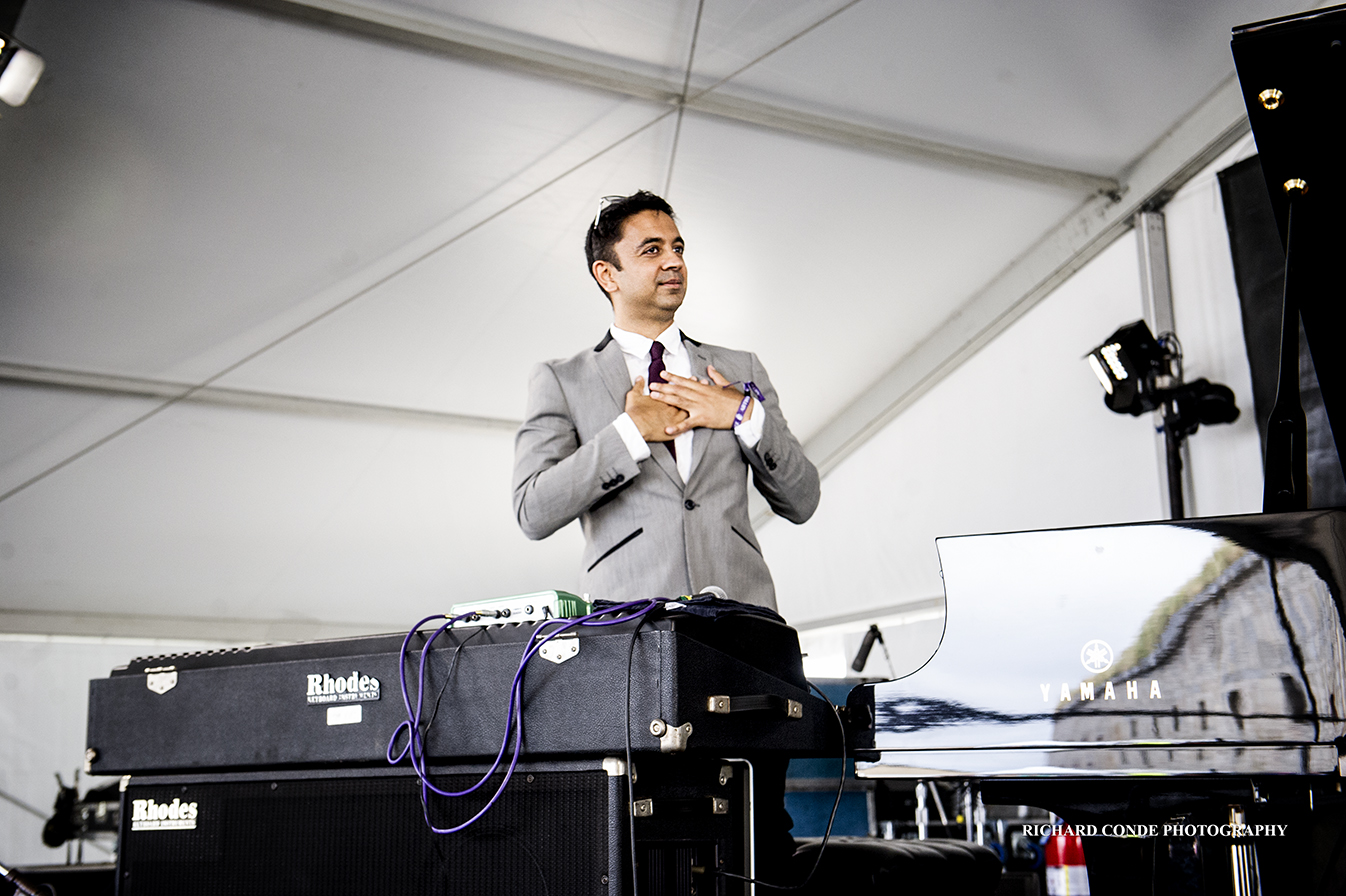 Vijay Iyer at the 2017 Newport Jazz Festival