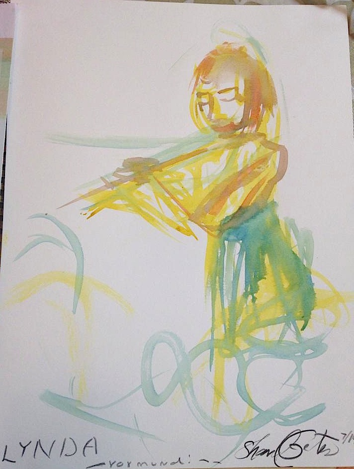 Lynda Arnold Plays Flute Improvization, Sharyl Gates Painting