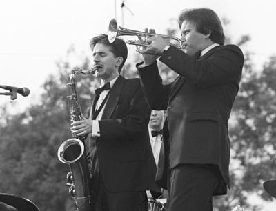 Scott Hamilton Warren Vache 0317834 Capital Jazz Festival, Knebworth, UK July 1982 Images of Jazz